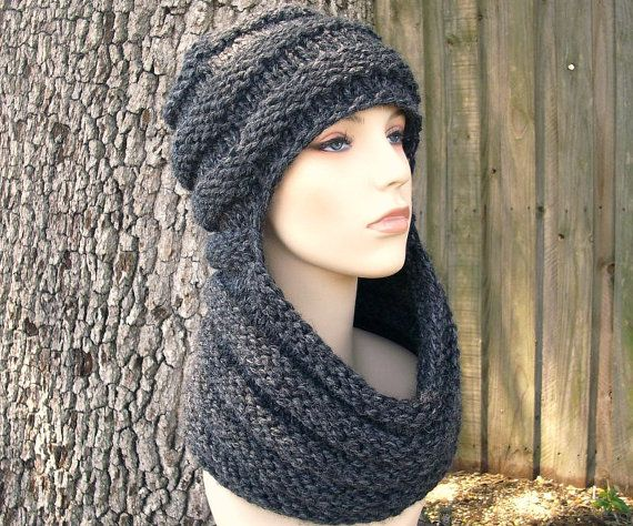 Zhivago Cowl and Hat combination Knitting Pattern - easy, quick, but unique knit. Etsy (affiliate link)