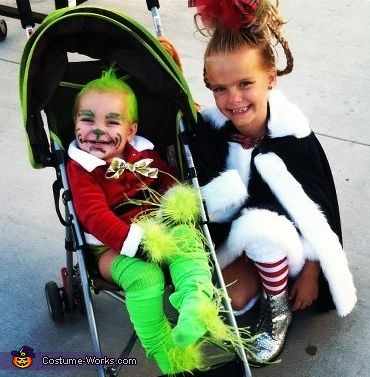Baby Grinch and Cindy Lou Who - Halloween Costume Contest via @costumeworks