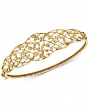 Openwork Vine Bangle Bracelet in 10k Gold - Gold  goldbanglebracelets 8e92cd036b0a