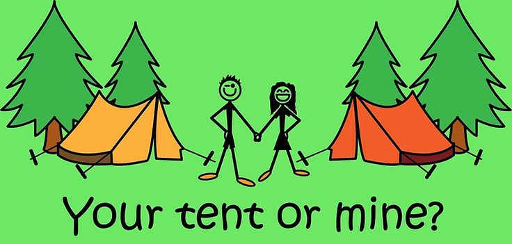 "Camping Joke Your Tent Or Mine"" Art Prints by CreativeTwins ..."