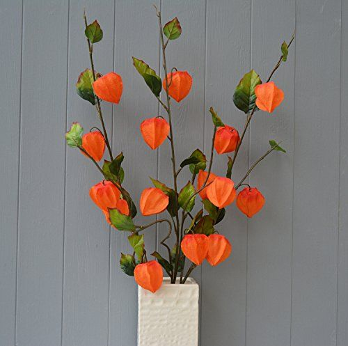 Three Stems Of Physalis Chinese Lanterns Orange Artificial Flowers Simply Add Style Http