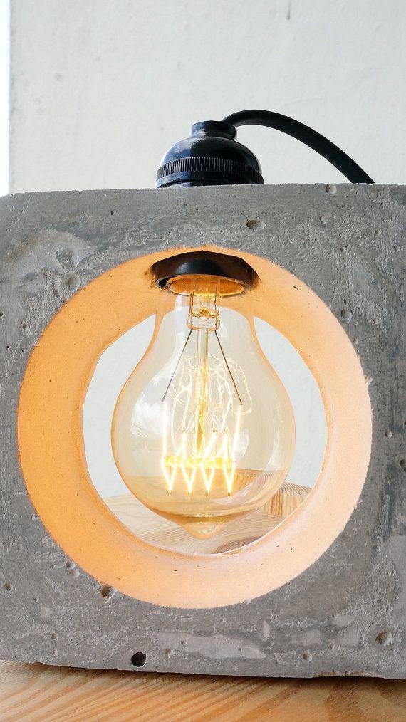 25 einzigartige lampe beton ideen auf pinterest betonlampe concrete betonlampe beton und. Black Bedroom Furniture Sets. Home Design Ideas