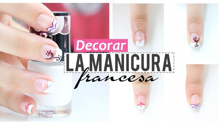 Ideas para decorar la manicura francesa