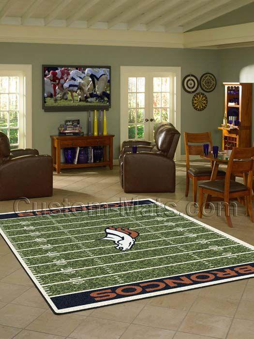 Custom-Mats by Gallant | Custom Mats - Denver - Denver Broncos NFL Home Field Rug -
