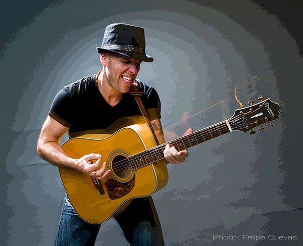 Two-time Latin Grammy winning singer-songwriter and UNICEF Goodwill Ambassador Gian Marco with his Epiphone Masterbilt DR-500P.