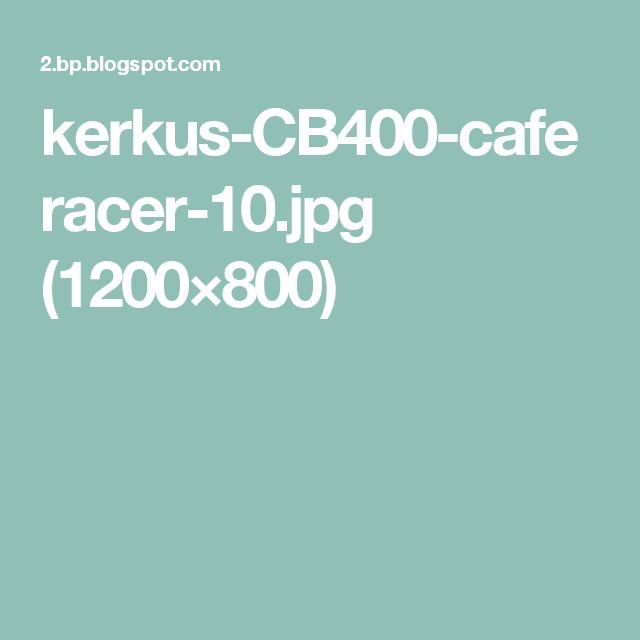 33 best HONDA CB400SF NC31 Cafe Racer カフェレーサー images on ...