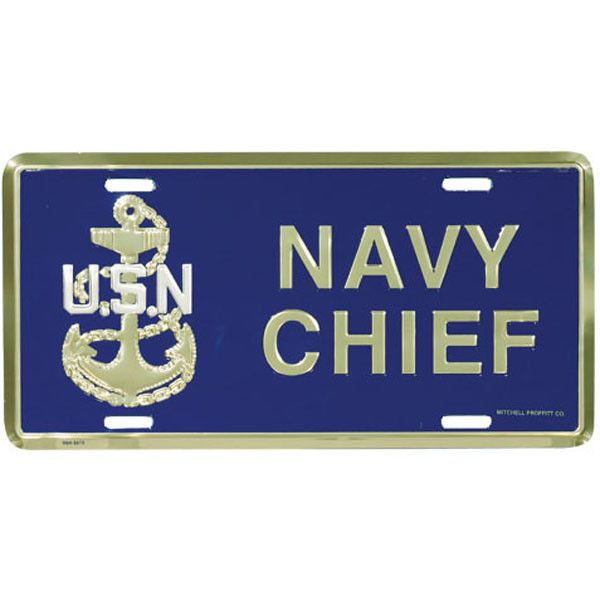 Navy Chief License Plate