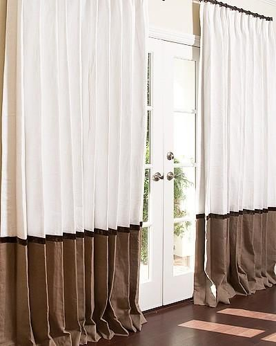 Window Treatments Signature Collection Bordered Linen