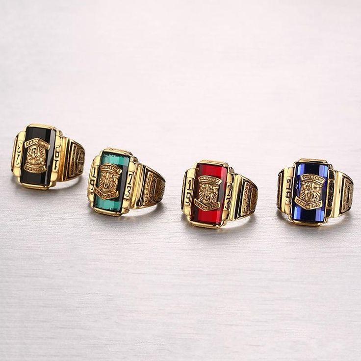 High Polished Walton Tiger Head Fashion Ring Stainless Steel Rings Gift for Men at Banggood