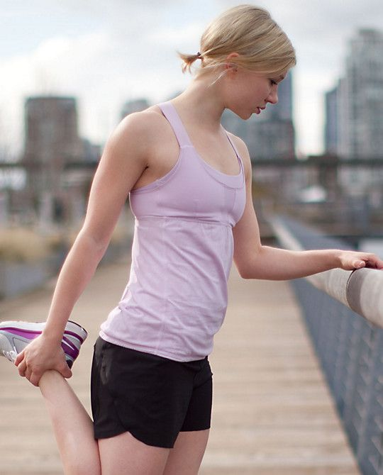"""""""Stuff your bra"""" tank-- running tank with lots of hidden pockets for things you need on an outdoor run!"""