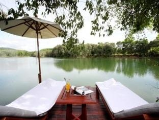 Waterjade resort, superior rooms have a deck over the lake.  Nice place for a massage methinks :)