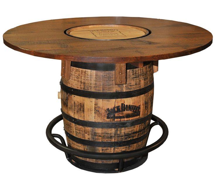 Mesa feita com barril