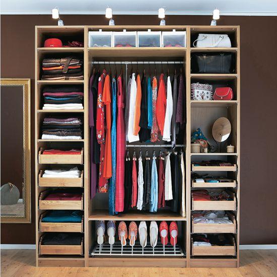 Wardrobe shelving ideas. Compact shoe rack.