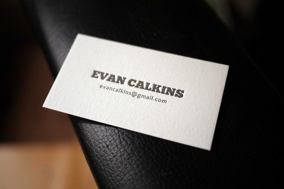 100 Custom Letterpress Calling Cards  Slab Serif by HobanPress, $75.00