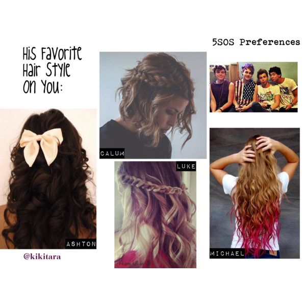 """5SOS Preference: His Favorite Hair Style On You"" by kikitara on Polyvore"