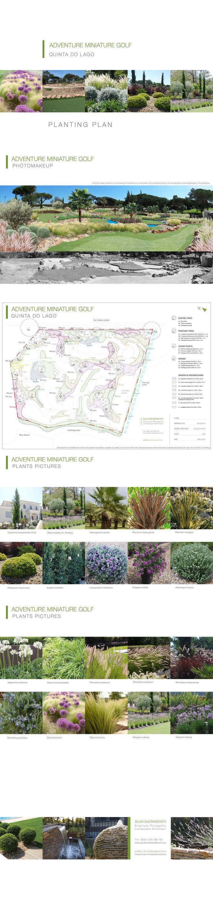 Adventure Mini Golf ::: project presentation Planting Design Project by Silvia Sacramento