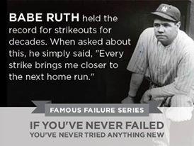 BABE RUTH Famous Failure