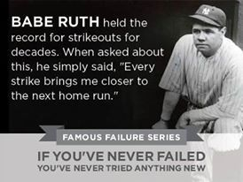 BABE RUTH Famous Failure