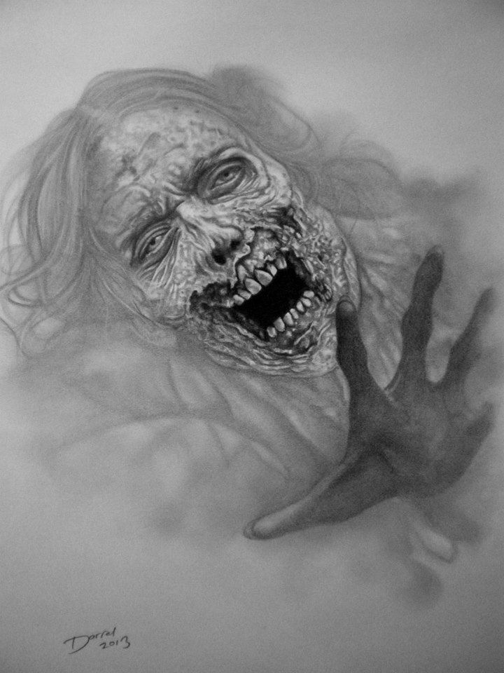 Zombie Woman, The Walking Dead, by Darrel Bevan