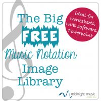 The Big Free Music Notation Image Library. More than 150 music notation images for use in your worksheets, IWB software, presentations, classroom posters and more.
