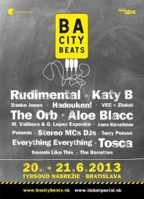 BA City Beats 2013 20.-21.6.2013, Bratislava - Kate B, Aloe Blacc, The Orba, Rudimental, Tosca and many more