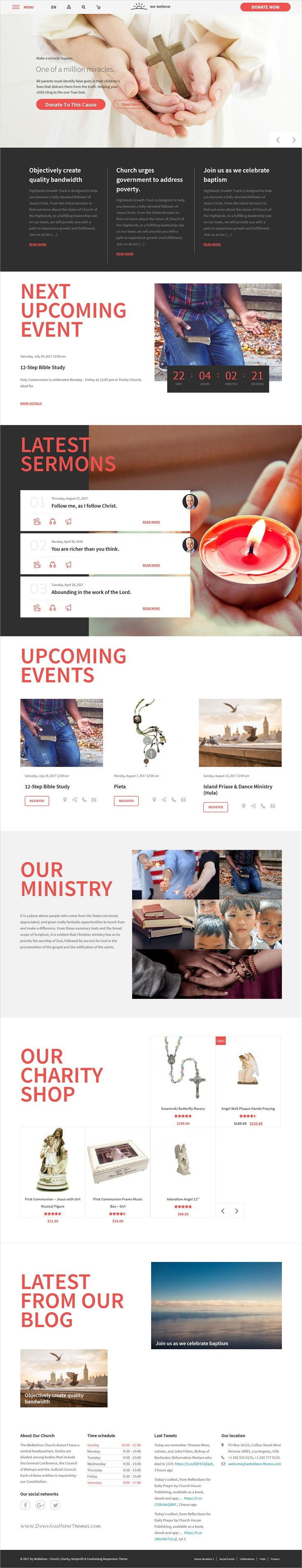 WeBelieve is clean and modern design 4in1 responsive #WordPress theme for #Church, #Charity and Fundraising and nonprofit organizations website download now > https://themeforest.net/item/webelieve-responsive-multipurpose-church-theme/19736499?ref=Datasata