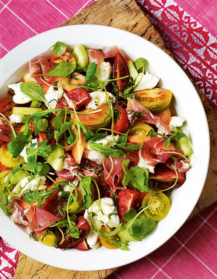 Fresh melon and juicy tomatoes contrast perfectly with salty ham in Debbie Major's summer salad recipe.