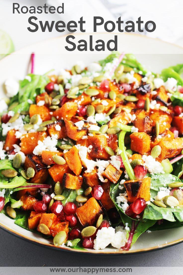 Roasted Sweet Potato and Baby Kale Salad   Recipe   Salad ...