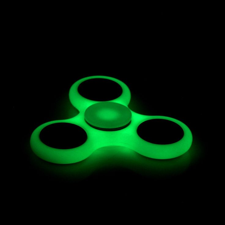 Top Lighting White Tri-Spinner Fidget Toy ABS Plastic EDC Hand Spinner For Autism and ADHD Rotation Long Time Stress Relief Toys
