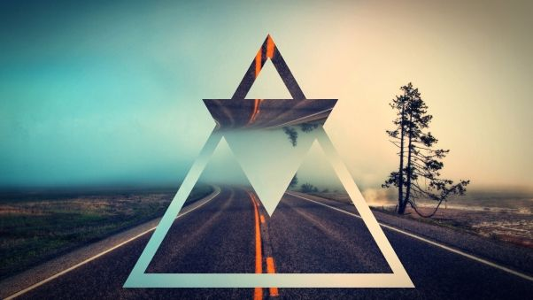 Wallpaper triangle, shape, background, bright
