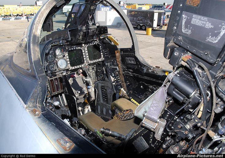 F-14D Tomcat cockpit - a lot going on.