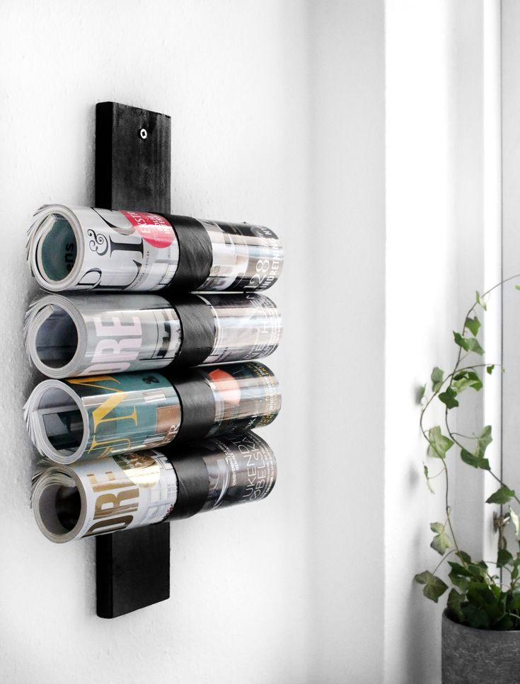 DIY magazine holder of Pringle cans // Katarina Natalie blog