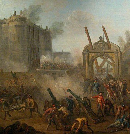 1789 - Toma de la Bastilla A pesar de que la fortaleza medieval conocida como la Bastilla sólo custodiaba a siete prisioneros, su caída en manos de los revolucionarios parisinos supuso simbólicamente el fin del Antiguo Régimen y el punto inicial de la Revolución francesa.