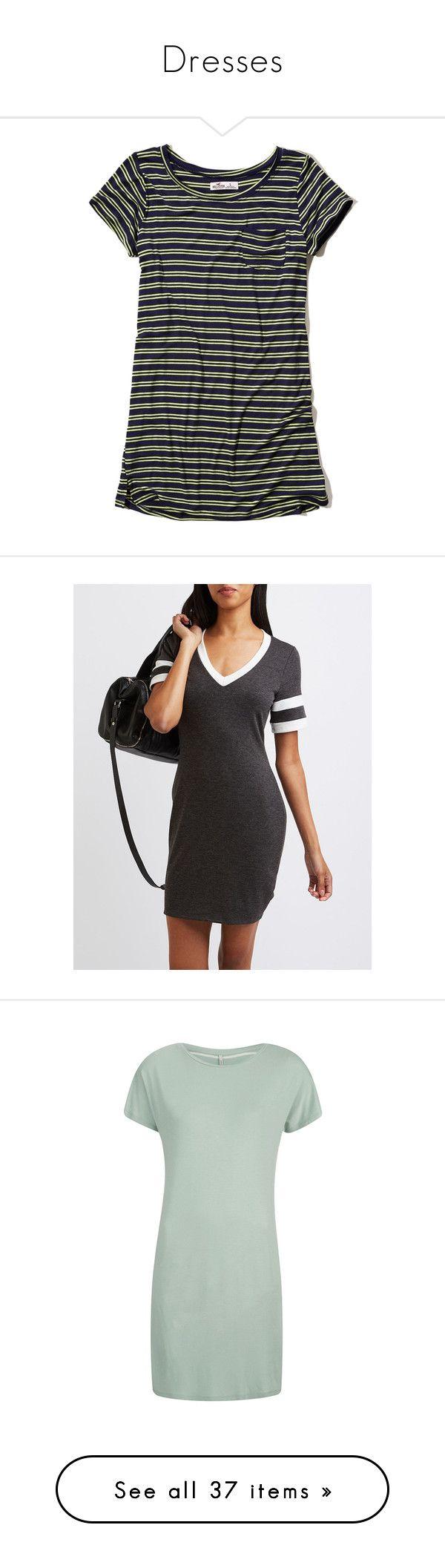"""Dresses"" by jgdelaossa ❤ liked on Polyvore featuring dresses, navy stripe, navy striped dress, navy stripe dress, knit dress, navy blue striped dress, blue striped dress, charcoal heath, t shirt dress and short-sleeve dresses"