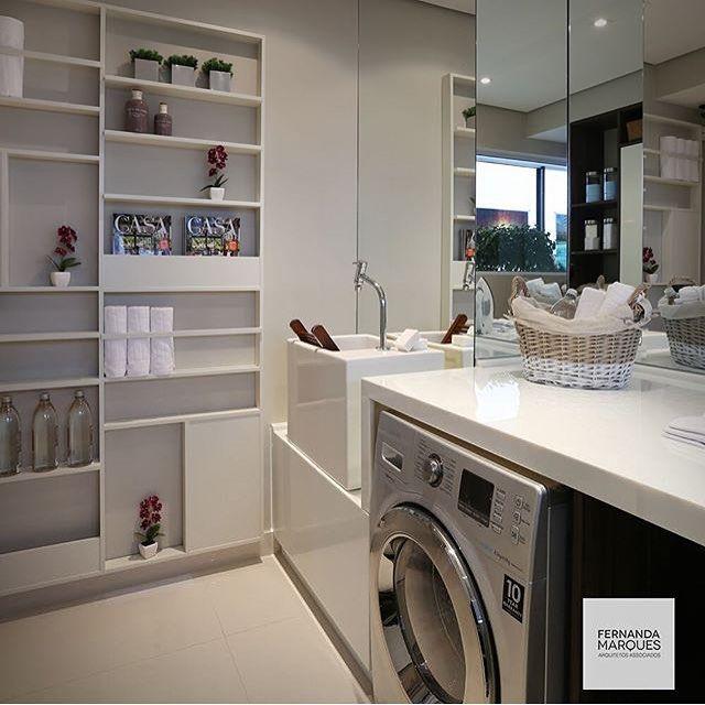 Blog de Decoração Perfeita Ordem: Lavanderias... Pequenos espaços com soluções charmosas e inteligentes