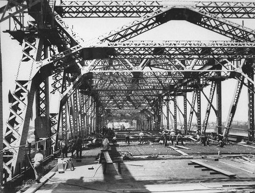 Construction of roadway slab on the Story Bridge, Brisbane, 1940 by State Library of Queensland, Australia, via Flickr