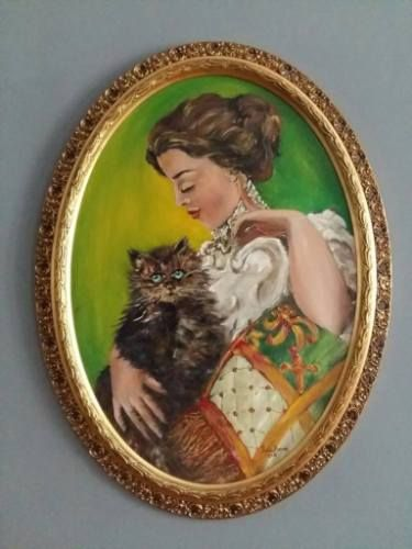 The Woman with a Grey Cat - Iulia Deme