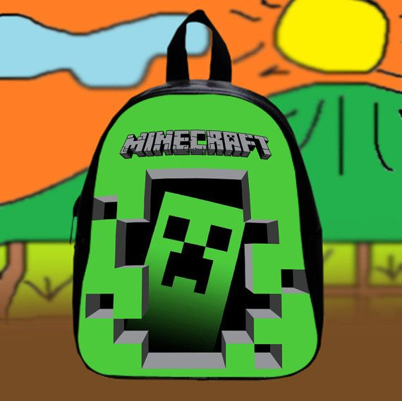 Minecraft Cracked Crepper Games  Custom SchoolBags by KopiHitam55
