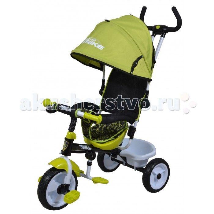 """Велосипед трехколесный Navigator Lexus Т58447/Т58446  Велосипед трехколесный Navigator Lexus предназначен для того, чтобы ребенок увидел мир с другого ракурса и постепенно переходил с коляски на собственный транспорт. Популярная модель детского трехколесного велосипеда с ярким дизайном. Велосипед снабжен ручкой управления для родителей.  Особенности: Диаметр переднего/заднего колеса: 10""""/8"""" Широкие пластиковые колеса с пластиковыми дисками  Сиденье с нерегулируемой спинкой  Конструкция руля…"""