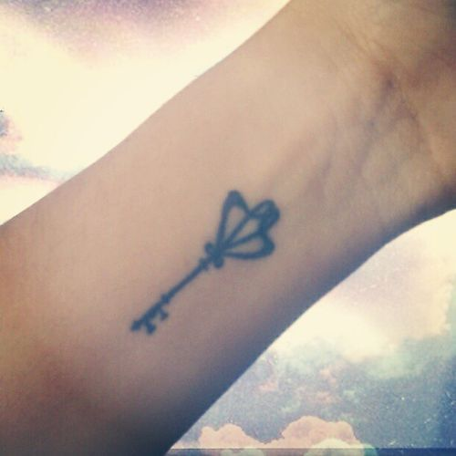 small key tattoo #ink #girly #tattoos