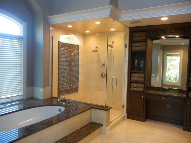 Crema Marfil Amp Dark Emperador Marble Bathroom Bathroom