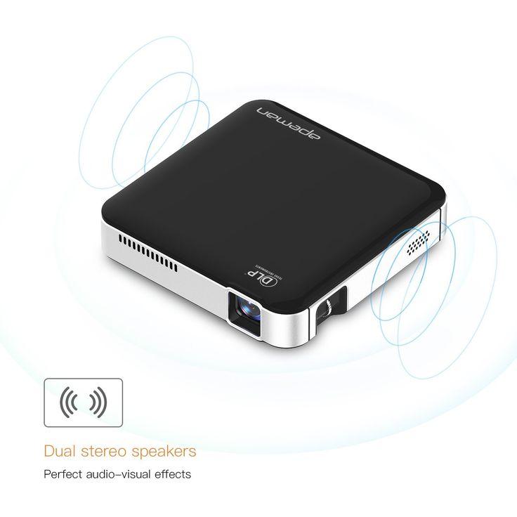 Apeman beamer mini projector dlp pico projektor wvga for Miroir wvga dlp pico pocket projector