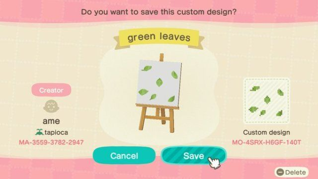 Green Leaves To Scatter On Your Ground Designed By Acnh