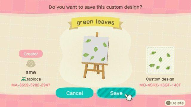 leaf custom design animal crossing