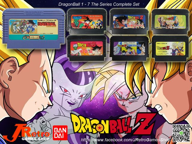 """Cartoon Action Supreme Hit in the World """"Dragonball"""" Port to Video Games Famicom 8Bit Console. Conplete Series 7 Cartridges ... Now on Sale!! Please Contact """"Facebook Fan Page Inbox Message"""" : By J-Retro Games Shop"""