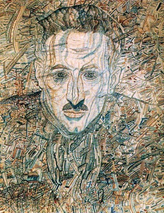 Portrait of Nikolay Glebov-Putilovsky - Pavel Filonov. 1935-36 гг. ГРМ. Санкт-Петербург. Россия.