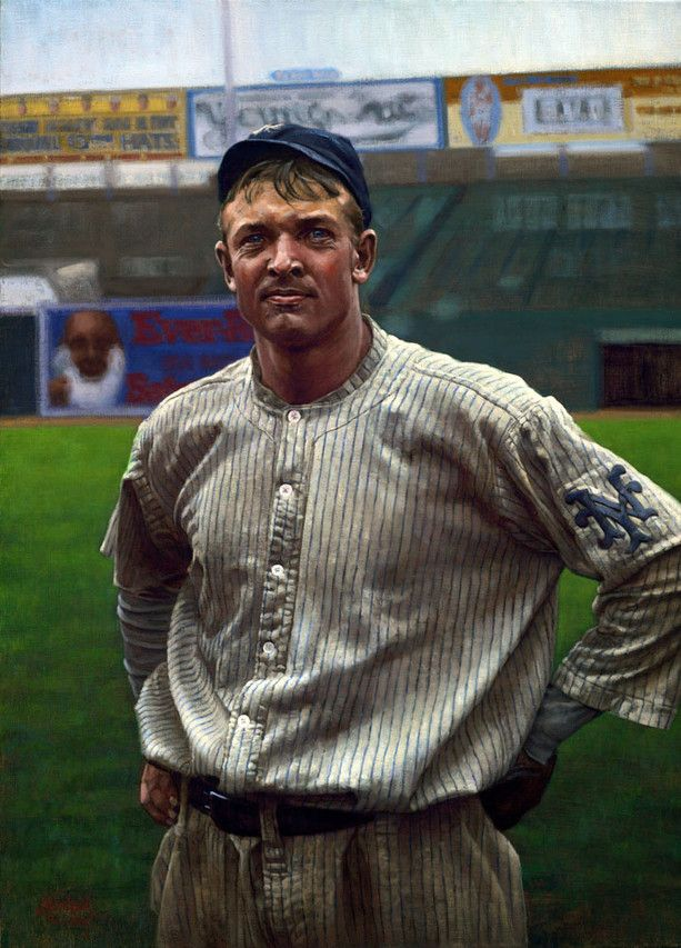 Christy Mathewson , of the New York Giants, at the Polo Grounds in New York in 1911 in 'The Christian Gentleman,' from 2009.