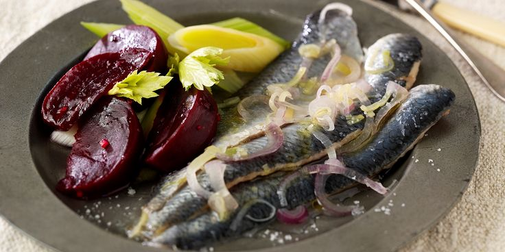 A simple herring recipe from chef Andy McLeish pairs the fish with beetroot, leeks and horseradish