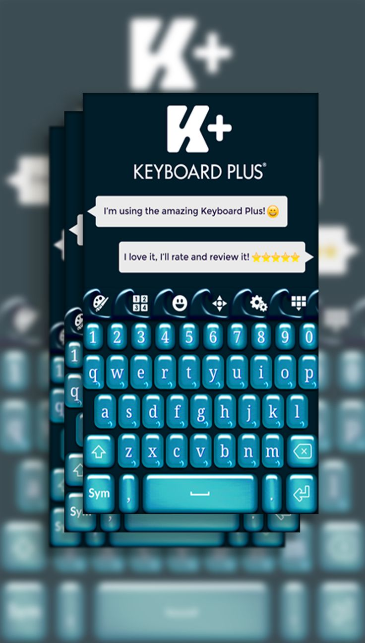 Enjoy Teal Waves Keyboard, this theme is fast, easy to use and an amazing way to personalize your keyboard's device.