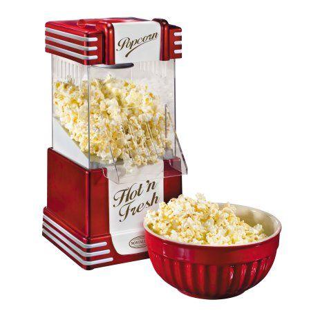 Nostalgia Electrics Retro Series Hot Air Popcorn Popper, RHP625, Red